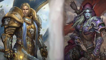 High King Anduin and Warchief Sylvanas by CreationKeeper