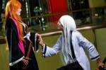 Matsumoto Rangiku and Ukitake - Love is in the air by BlairCosplayArt