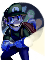 Luigi's Mansion - Luigi by Aeridis