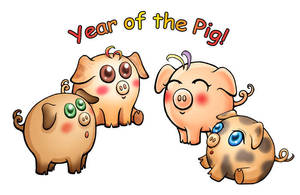 Year of the Pig by caleyndar