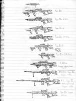 Phaser weapons early designs by eps-phr