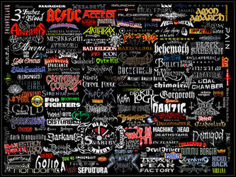 Mostly Metal Logo Collage by WarZard