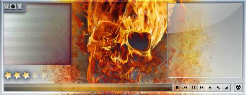 foobar2000 death metal deisgn by WarZard