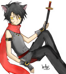 Haiji the Cat demon by lonelyheart2314