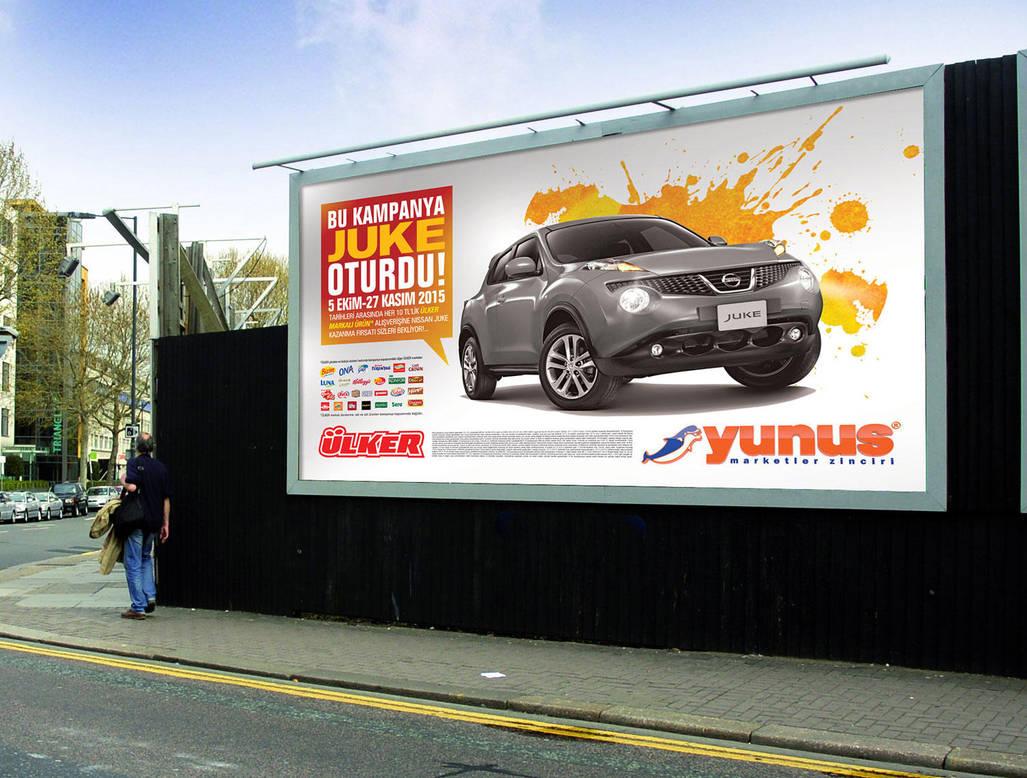 Yunus Market Nissan Juke Kampanyasi Billboard By Caginoz On Deviantart