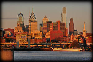 Philly Skyline - Dec '09 by barefootphotography