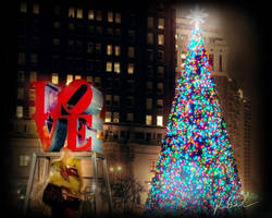 Love Park Christmas by barefootphotography