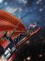 Solar surfing Lilo by yondoloki