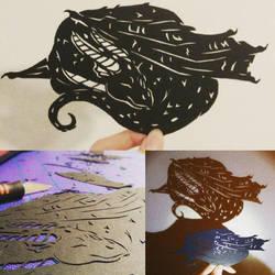 Paper Dragon by DragonFireArt