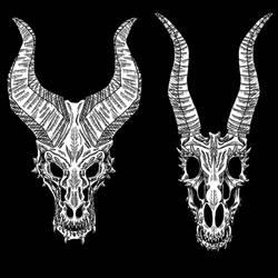 Skulls by DragonFireArt