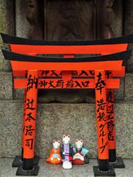 Inari Foxes by Omoidenoki