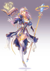 Valiant Force - Divine Avenger - Asteriel by DomDozz