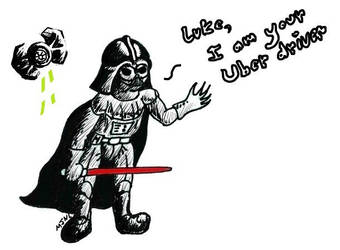 Vader small Uber Tie by MJNL by MJNLostetter
