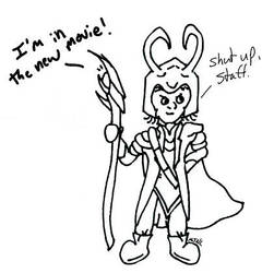 Loki n Staff by MJNL by MJNLostetter