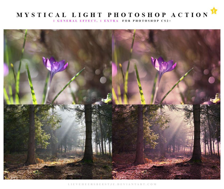 Mystical light Photoshop action by meganjoy
