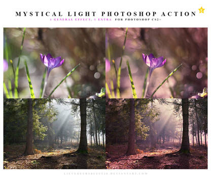 Mystical light Photoshop action by meganjoy