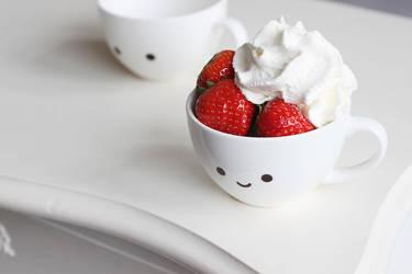 Strawberry with cream by meganjoy