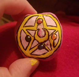Sailor Moon Brooch Rock by eveningstar