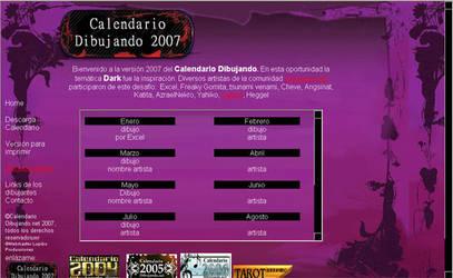 web calendario dibujando 2007 by lupibo
