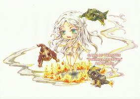 Chibi - Daenerys Targaryen by oOMellyChanOo