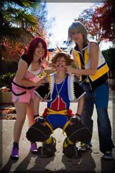 Kingdom Hearts- Destiny's Trio by twinfools