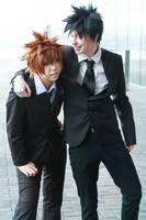 Yamamoto and Tsuna by twinfools