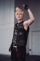 Prompto- Over here! by twinfools