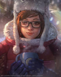 MEI RISE AND SHINE - OVERWATCH FAN ARRT by andyliongart