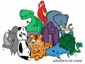 Extinction is not a trend. by forever-thinking