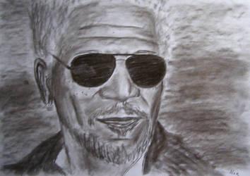 Morgan Freeman by AlexPetrovici