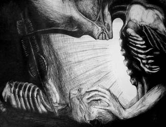 Giger tribute by AlexPetrovici