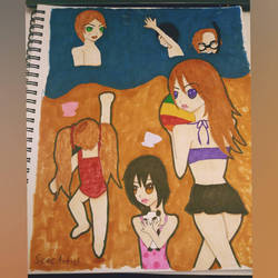 Harvest Moon day at the beach by SeacArtist