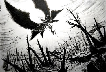 Scorched - INKTOBER 2018 by Taiphen