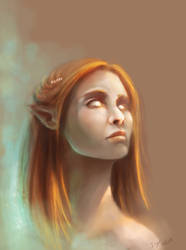 Elf - doodling by Taiphen