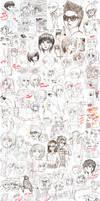 Notebook Doodles Dump by merumeruchan