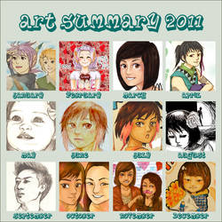 Art Summary 2011 by merumeruchan