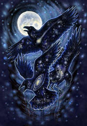 StarRaven Magic Print by ssantara