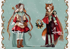 [CLOSED] {Winter Adopt Auction} [43] by Yearniing-And-Heroin