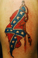 Confederate Flag Tattoo.. by WikkedOne