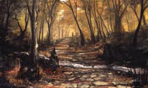 Autumn Stream by Ninjatic