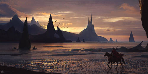 Sunset Castle by Ninjatic