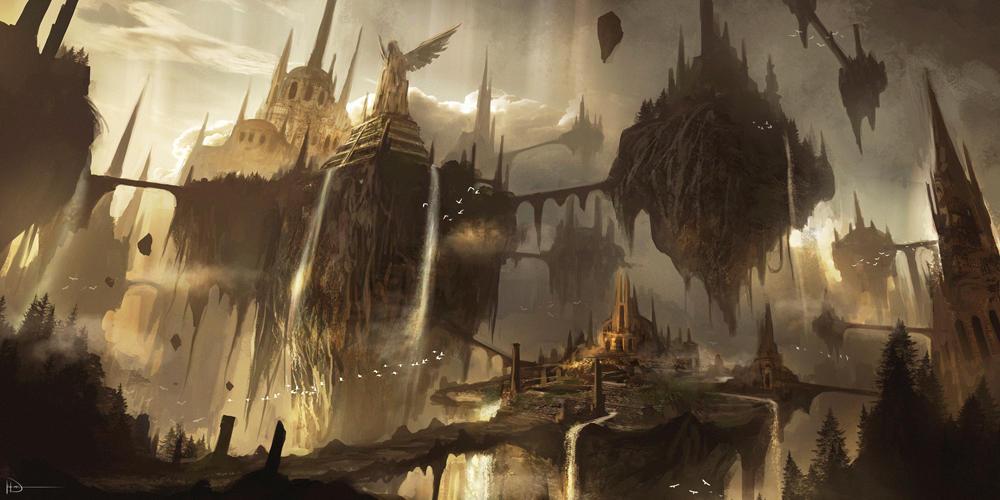 Floating Ruins by Ninjatic
