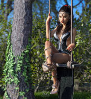 Veronica on the swing by Vizzee