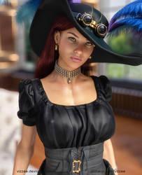 Lena (Steampunk Portrait) by Vizzee