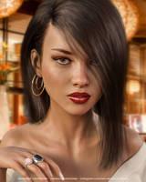 Veronica (Portrait) by Vizzee