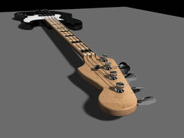 Fender Jazz Bass 3D Model by AEvilMike