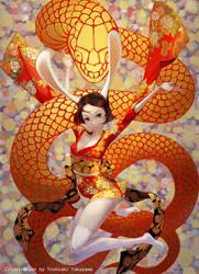 Rabbit and Snake by TakayamaToshiaki