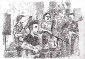 Drawing Jh 2018 Norrebro Jazz 01 by JakobHansson