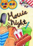 Movie Night Doodle Graffiti Art by miniaturedreams