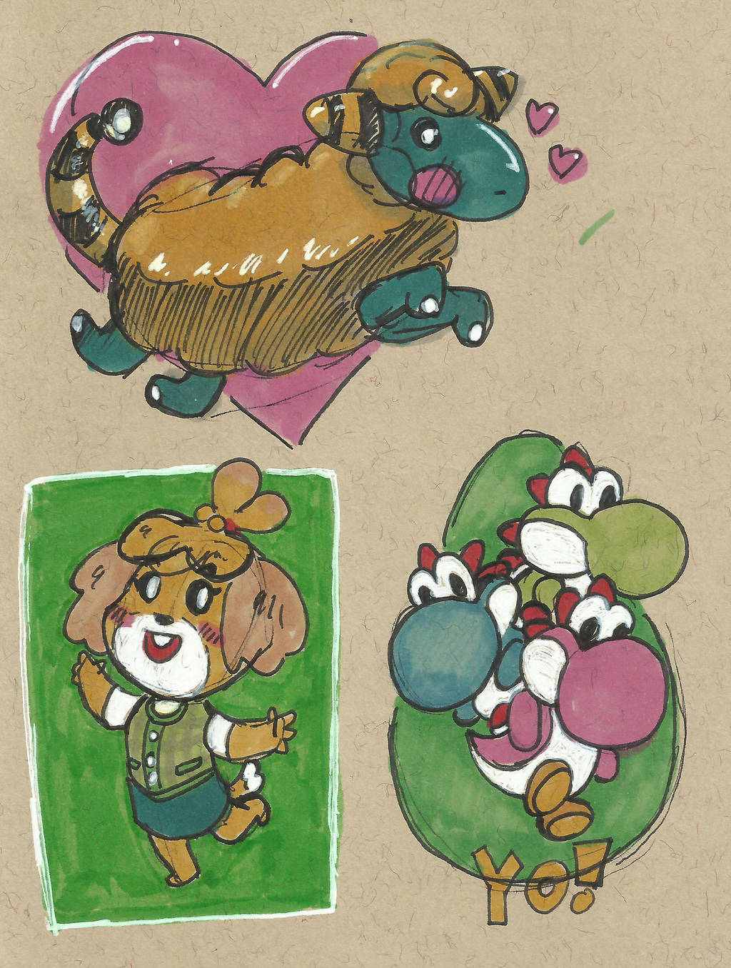 Cute Sketches by TheInsaneDingo